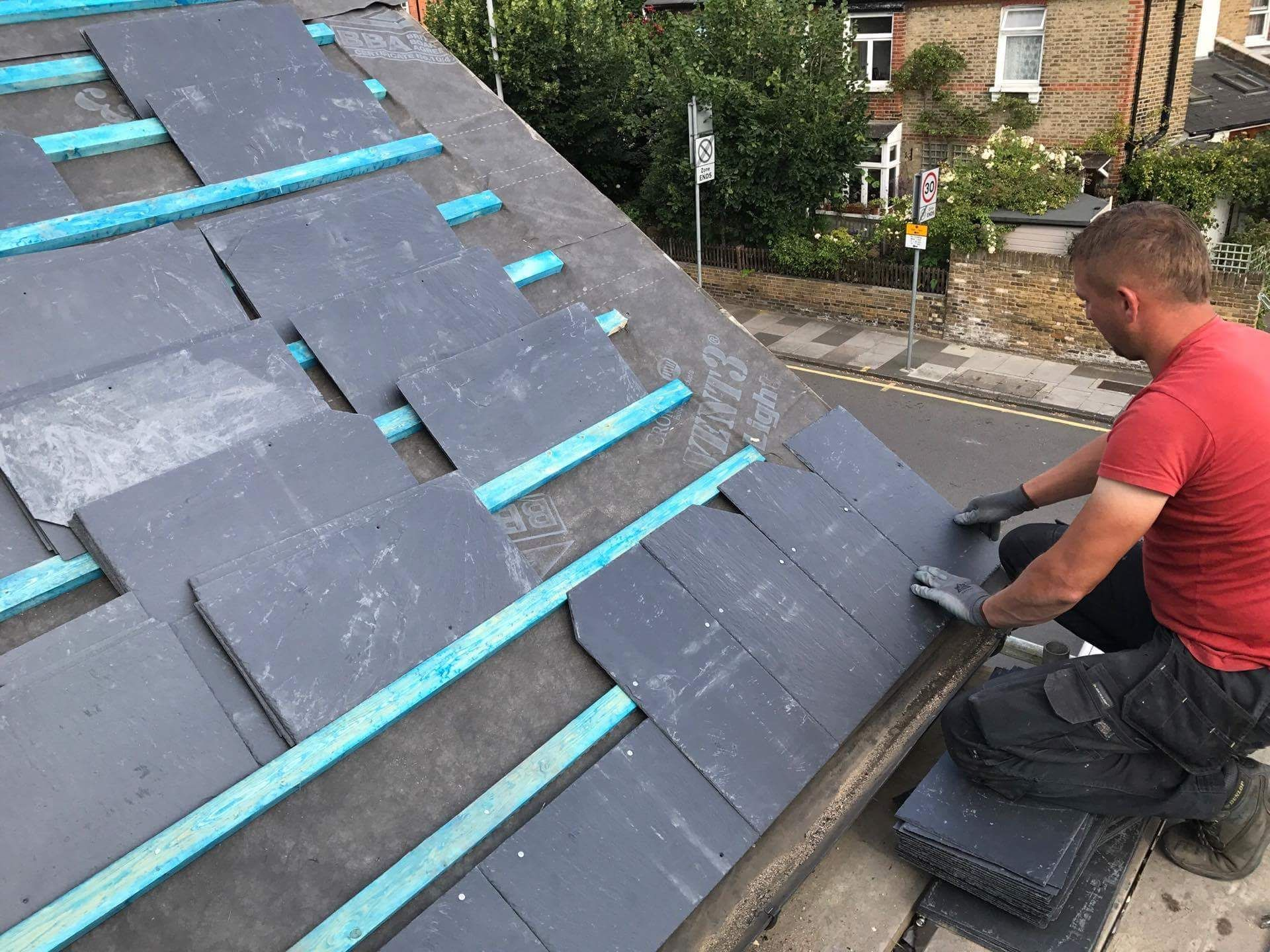 Pin By New Roof Specialists Limited On Commercial Roof Repairs London Slate Roof Installation Roof Installation Roof Repair