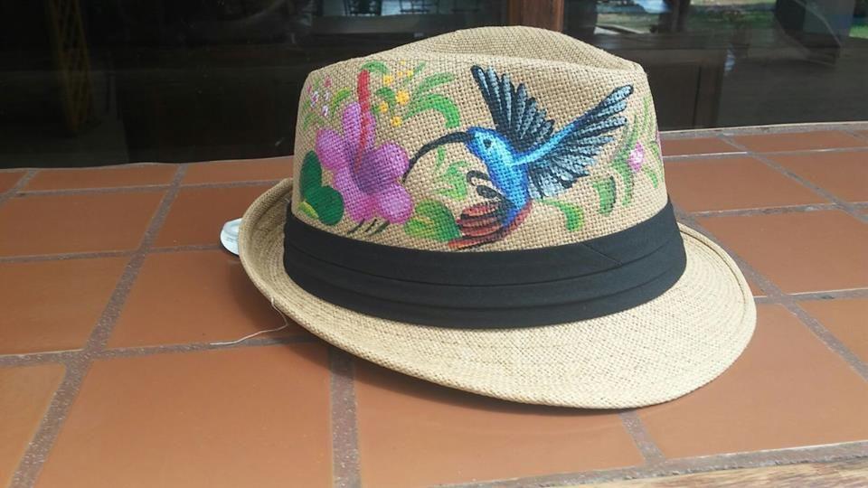 Hand Painted Hats Paradise Products Costa Rica Sombreros Pintados A Mano Sombreros Decoracion Sombreros