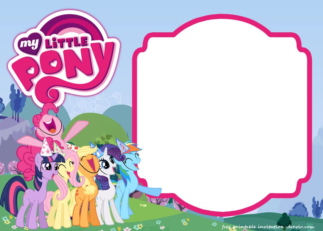 photo relating to My Little Pony Printable Invitations referred to as My Small Pony Birthday Invitation Template - Equestria