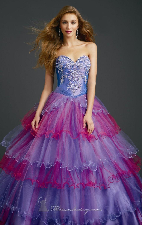 Fabulous Ombre Colored Quinceanera Dresses Beaded Vestido ...