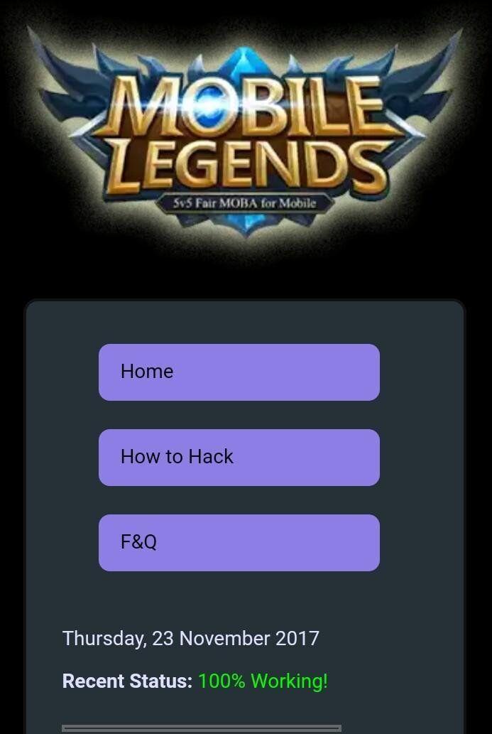 100 Real Mobile Legends Hack Free Diamonds And Battle Points Generator Mobile Legends Mobile Legend Wallpaper Bruno Mobile Legends
