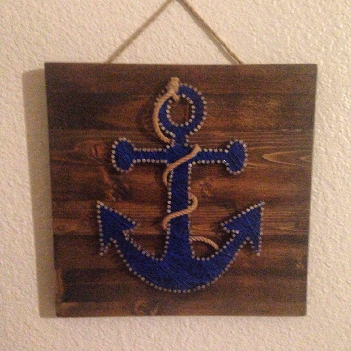Anchor string art | diy projects | Pinterest