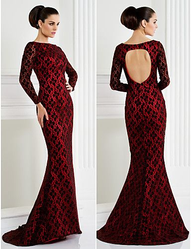 This Red And Black Formal Evening Dress Is Absolutely Gorgeous The