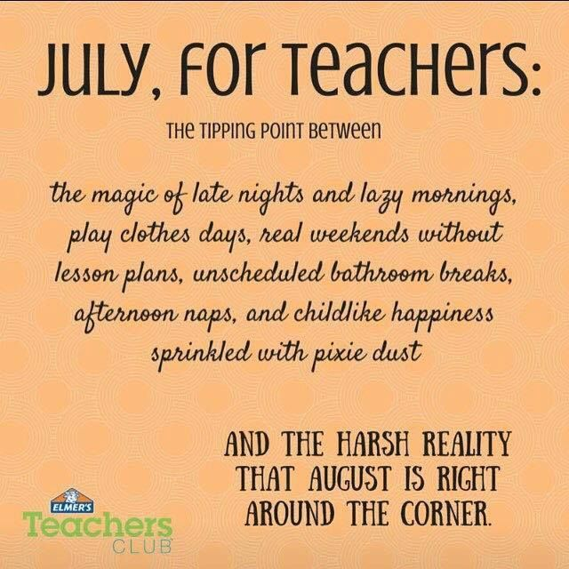 School Time Quotes: Summer Vacation Teacher Humor. The Teacher Countdown To