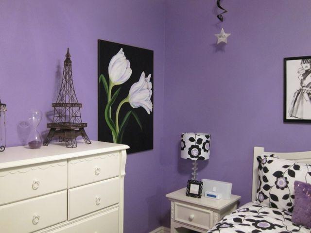 Farbgestaltung für Schlafzimmer – das geheimnisvolle Lila   Purple ...