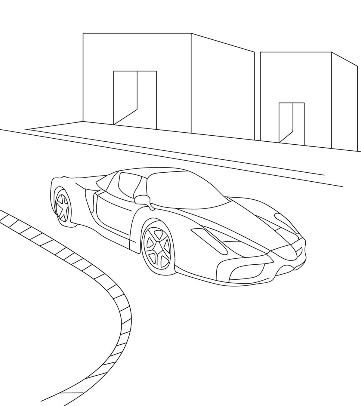 Car Coloring Sheets Coloring Pages Coloring Design Top Printable