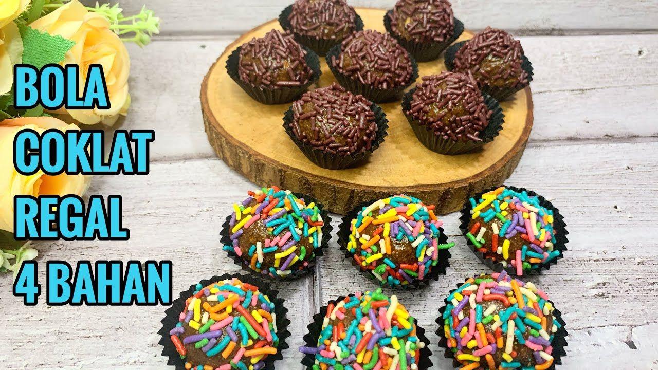 Resep Kue Coklat 4 Bahan Bola Bola Regal Youtube Resep Kue Coklat Kue Coklat Resep Kue