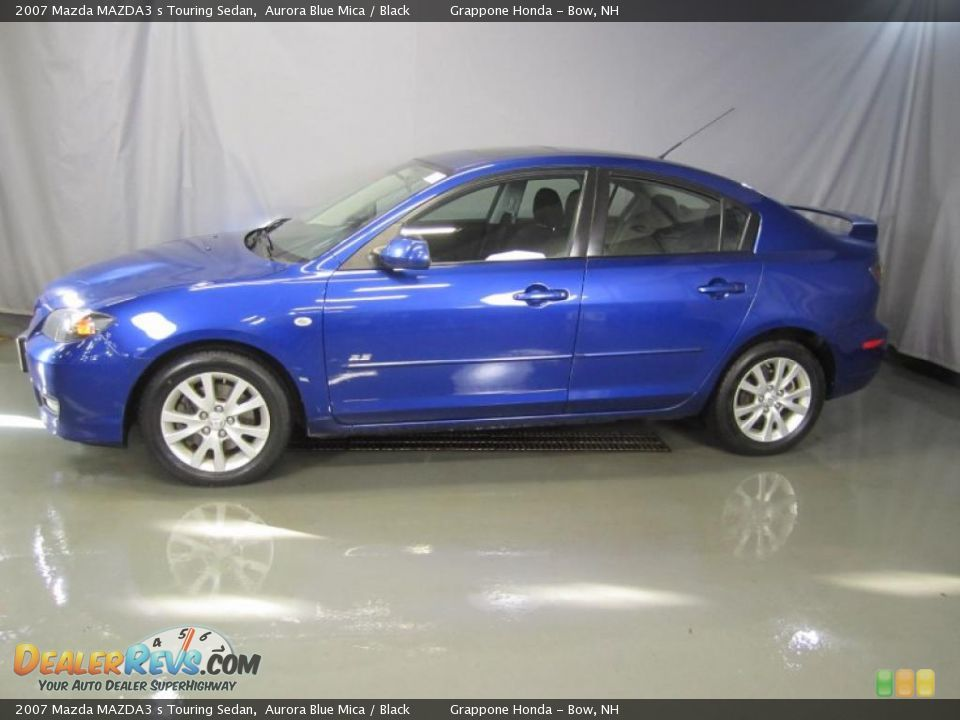 2007 Mazda MAZDA3 S Touring Sedan Aurora Blue Mica / Black Photo #3