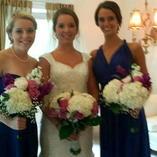 Rachel's wedding with her 2 gorgeous sisters!