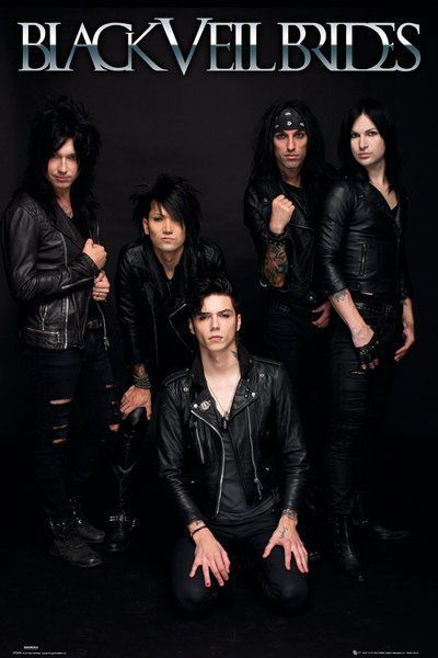 BLACK VEIL BRIDES - MUSIC POSTER / PRINT (THE GUYS - BLACK BACKGROUND)
