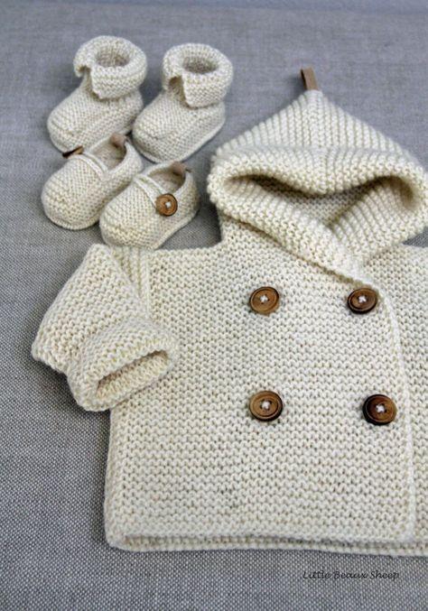 Hand knitted Handmade Baby Wool Sweater Coat Cardigan Hand knit ...