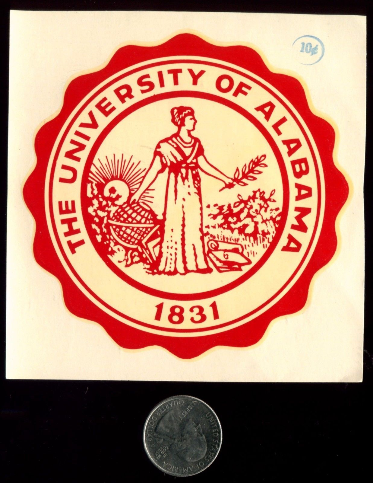 University Of Alabama Seal Vintage Souvenir Decal   joey\'s world ...