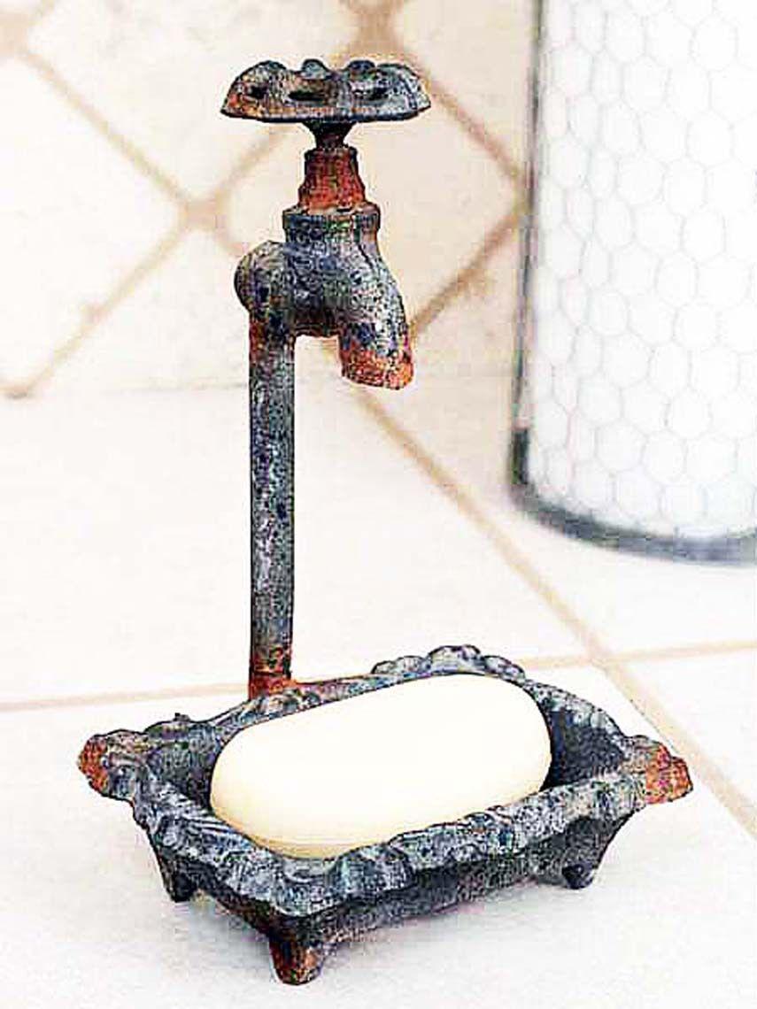 Water Faucet Cast Metal Soap Dish - Tittles & Bits | Kitchen ...