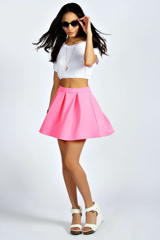1f129d081c Tianna Neon Box Pleat Skater Skirt alternative image | Fashion