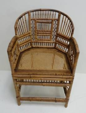 Vintage Rattan Chippendale Chair
