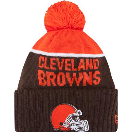 Browns Youth New Era On Field Sport Cuffed Knit Hat