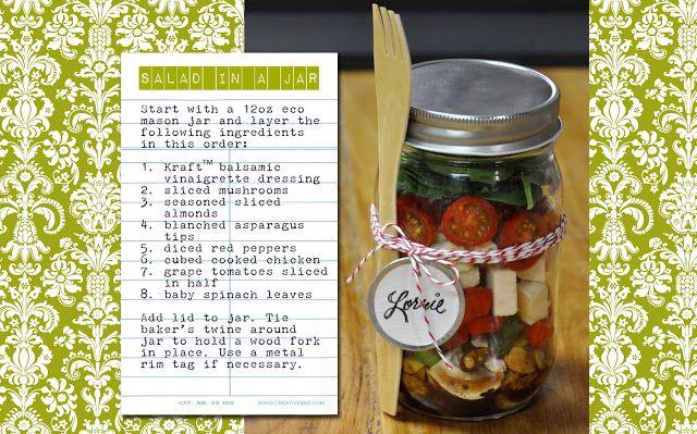 the creative bag blog: Salad in a Jar ... our new jars and bottles have arrived!