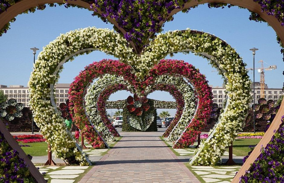 El jardín más grande del mundo está en Dubái (Fotos