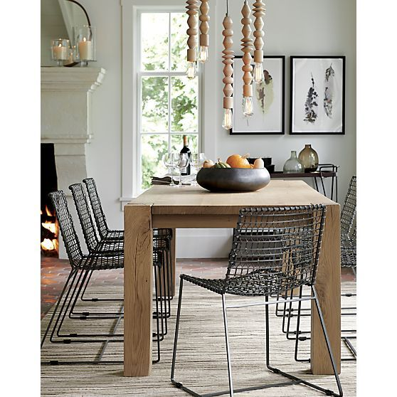 Tig Metal Dining Chair Crate And Barrel Metal Dining Chairs Dining Chairs Dining Table