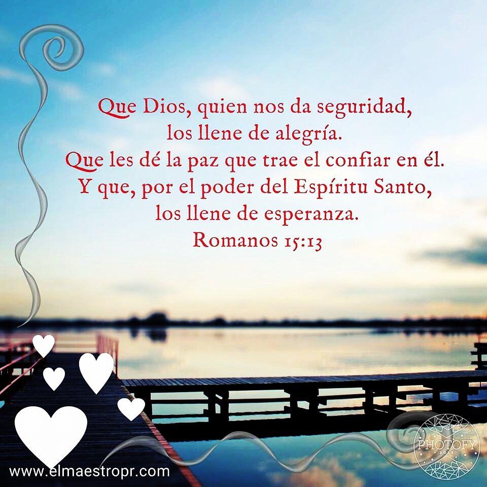 Solo en Dios tenemos seguridad y paz Romanos Biblia