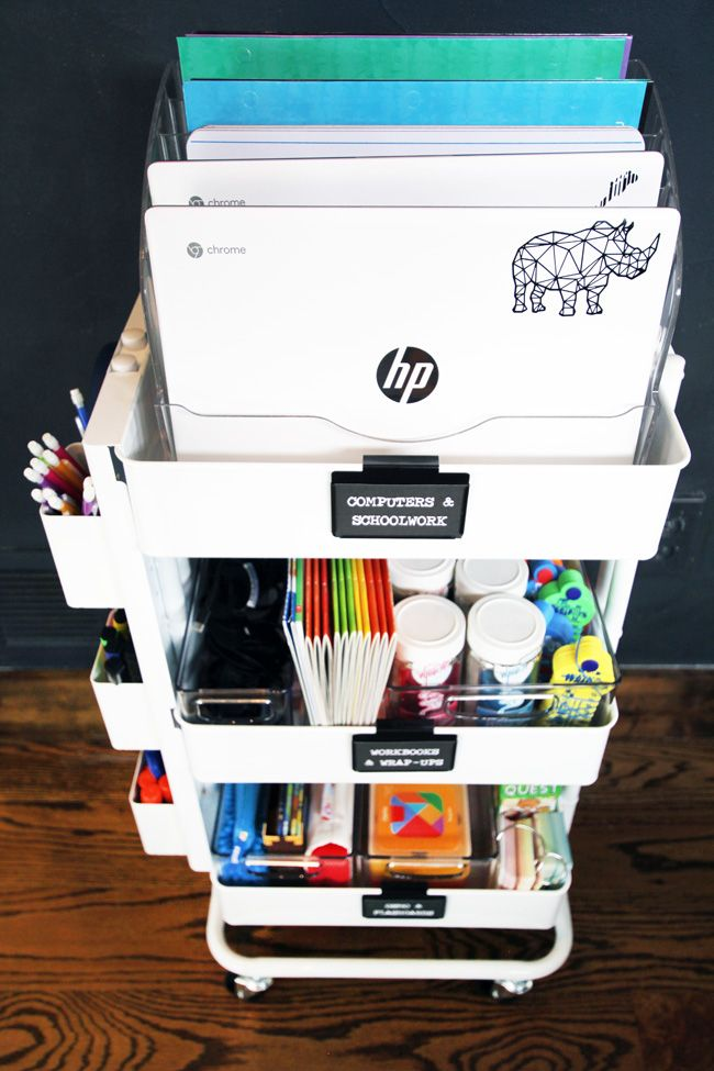 Photo of How to Stay Organized During Distance Learning with a Rolling School Cart