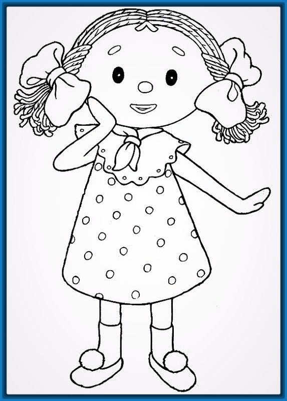 niña para colorear - Etame.mibawa.co