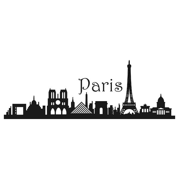 Paris Townscape French France Car Decal Sticker