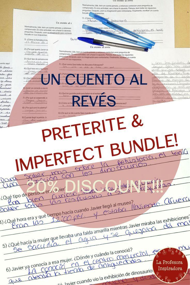 BUNDLE!!! El pretrito y el imperfecto: 10 cuentos al revs   Creative  writing, Spanish and Activities