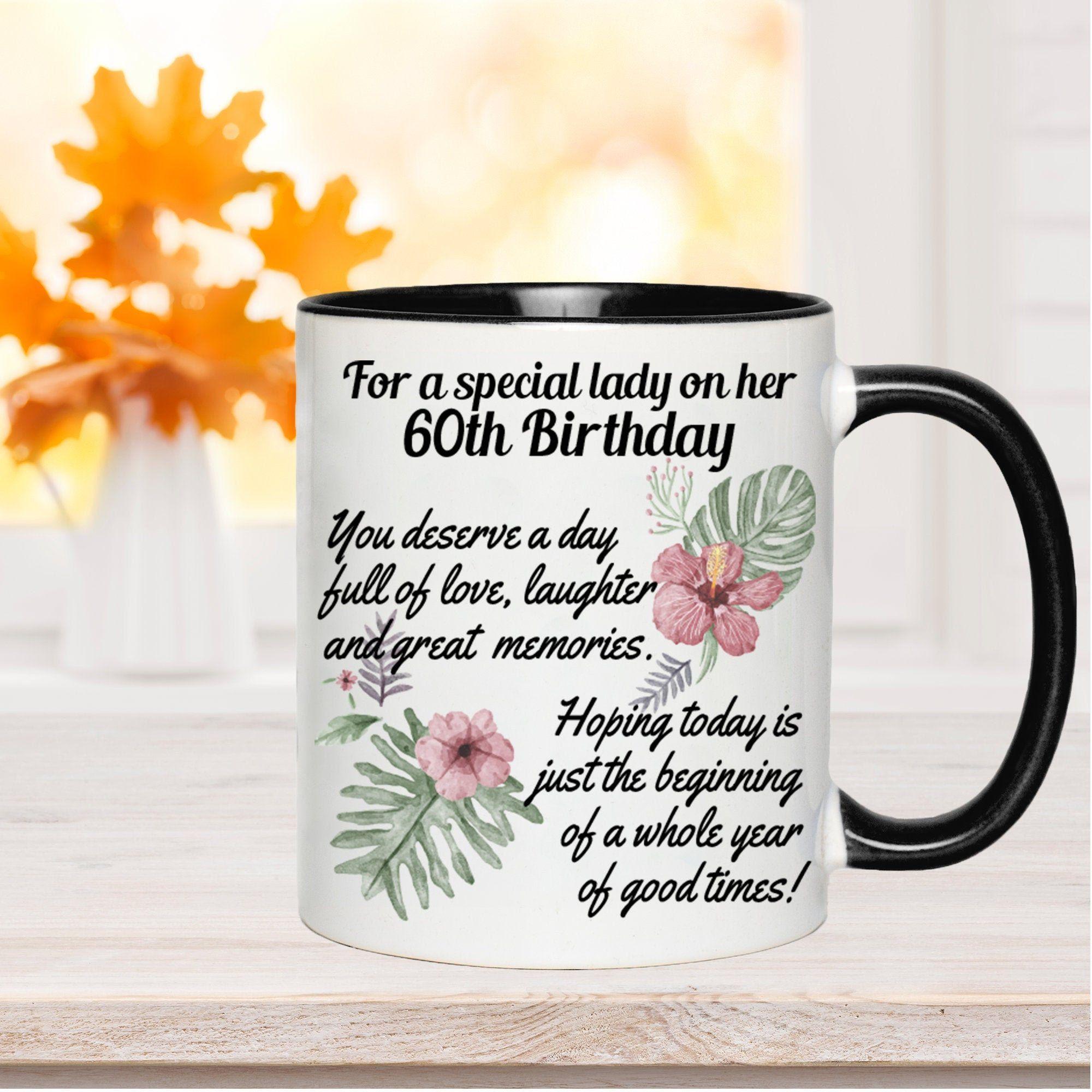 60th birthday gift for women cute 60th mug sentimental