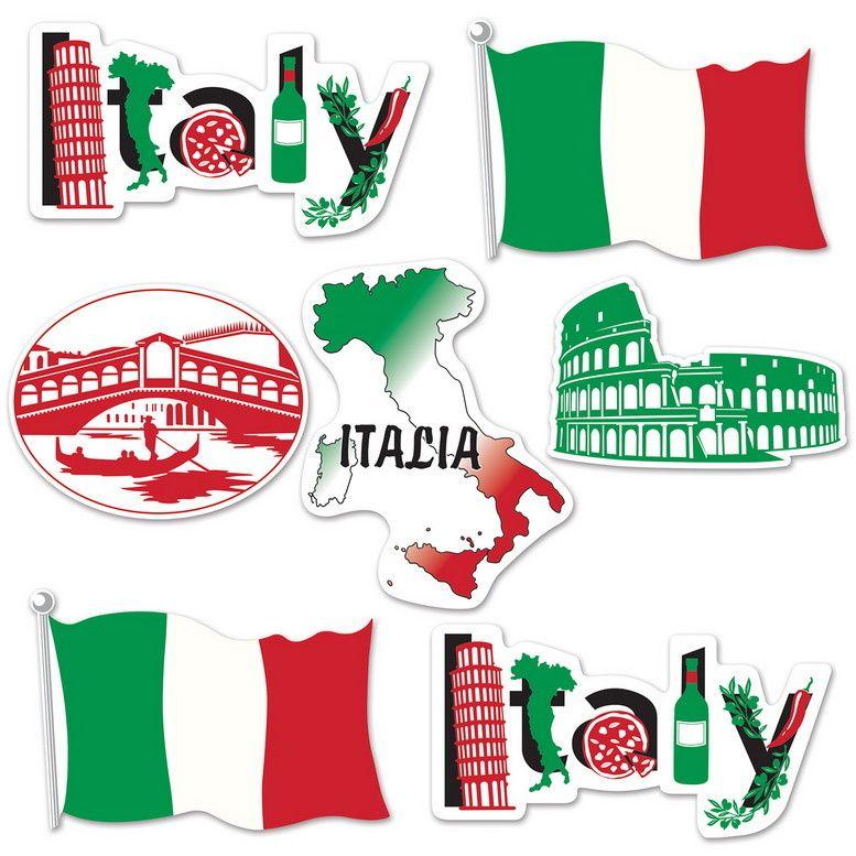 Decoraties Italie 7 Stuks Bent U Op Zoek Naar Italiaanse Decoraties Voor Een Themafeest Bekijk Onze Bijzondere Collectie Met Prachti Centre De Loisirs Loisirs
