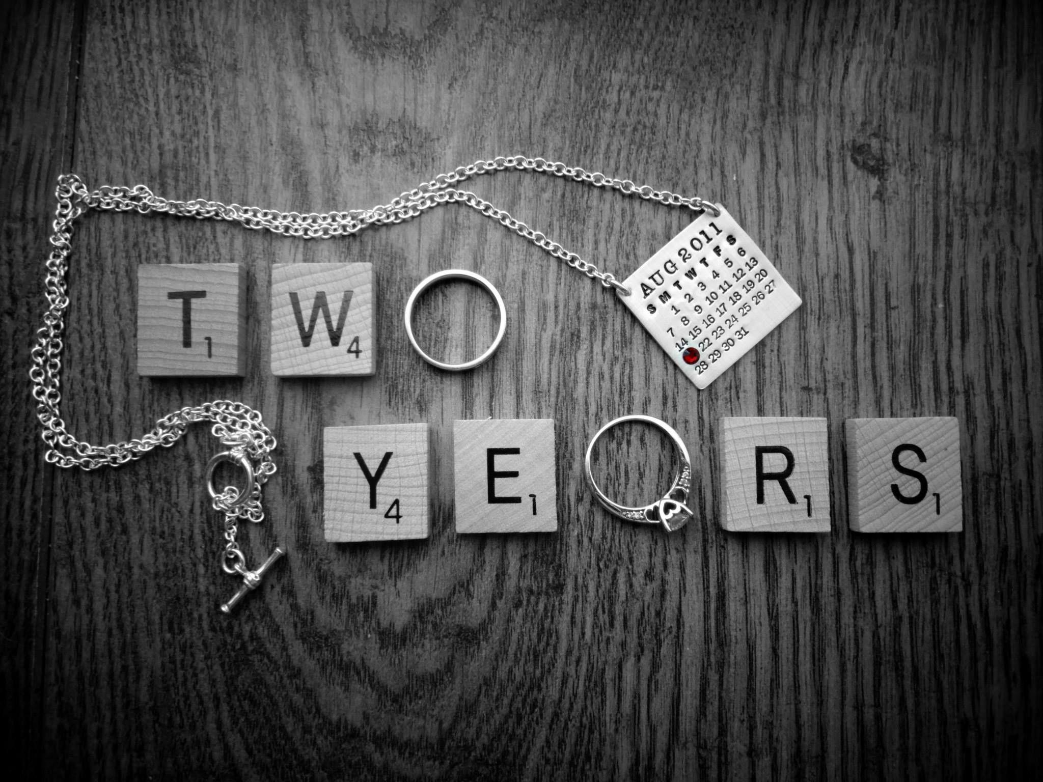 2 years second wedding anniversary 111112 second