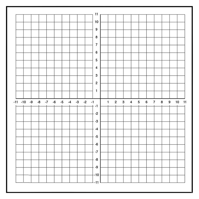 Dry EraseMagnet Graph - 23 - graph paper with axis