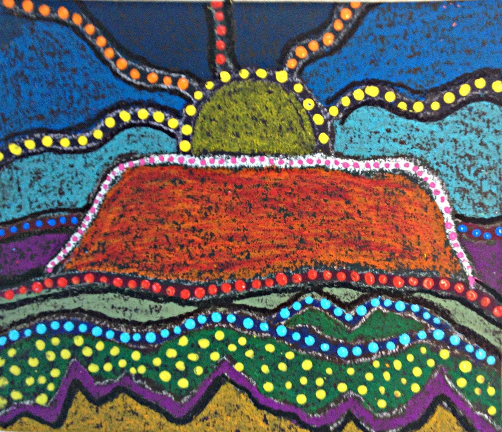 Marymaking Uluru Landscape Aboriginal Inspired Art
