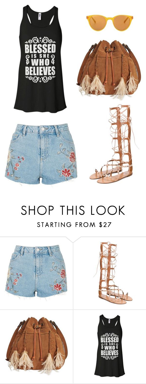 """Prepare for summer"" by larycao ❤ liked on Polyvore featuring Topshop, Valentino, Patricia Nash and Sun Buddies"