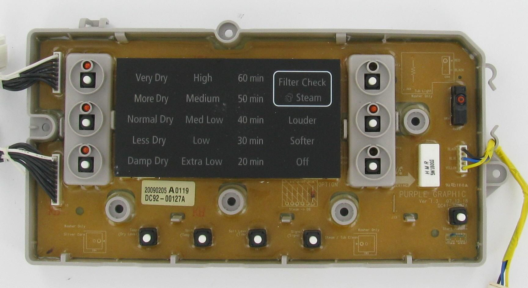 Samsung Dc92 00127a Laundry Dryer Pcb Assembly Board Laundry Dryer Broken Appliance Dryer