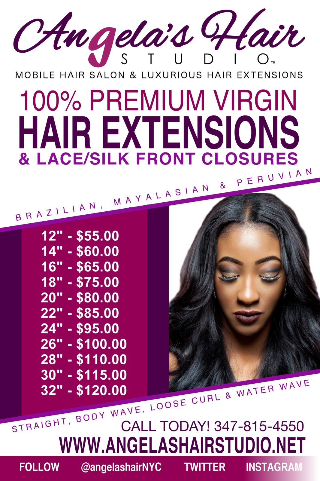 Hair extension price list angela - Hair salon extensions ...