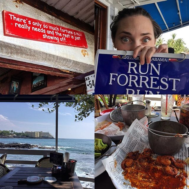 Top 100 forrest gump quotes photos Great day today...peel & eat Cajun shrimp! I love this place! 😍 #bubbagump #bubbagumpshrimp #kona #kailuakona #bigisland #hawaii #shrimp #yummy #forrestgump #gump #forrestgumpquotes #run #beautifulview #oceanside #bestmovieofalltime