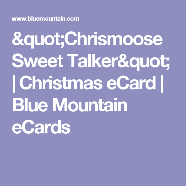 Chrismoose Sweet Talker