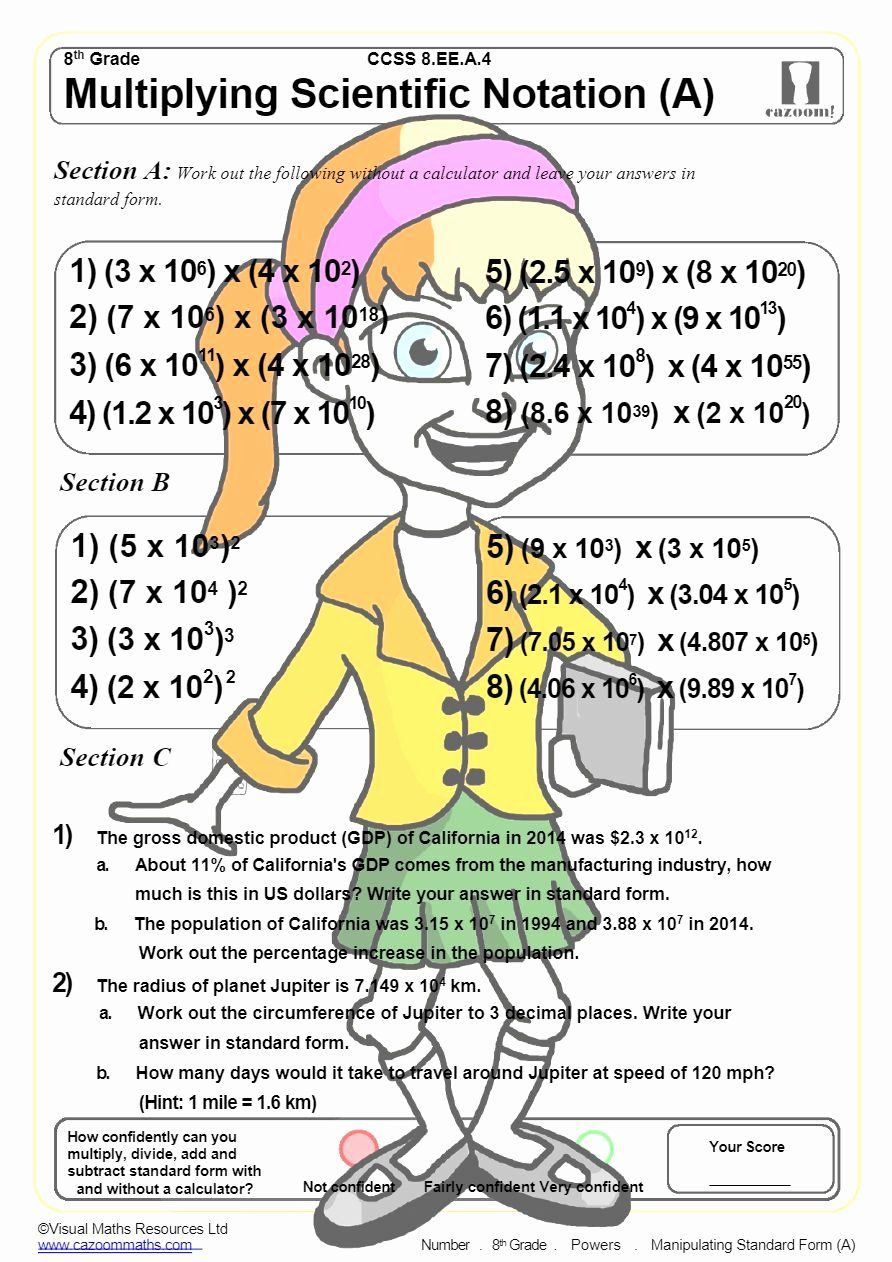 Multiplying Scientific Notation Worksheet Awesome Powers