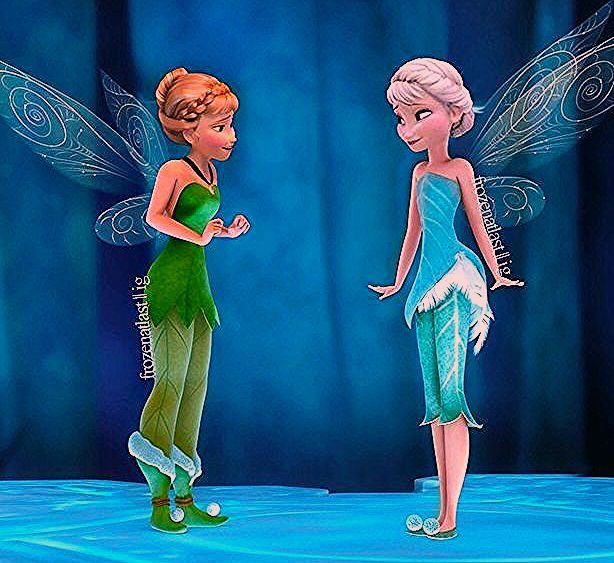 Photo of Frozen/Tinker Bell. This actually makes a lot of sense!