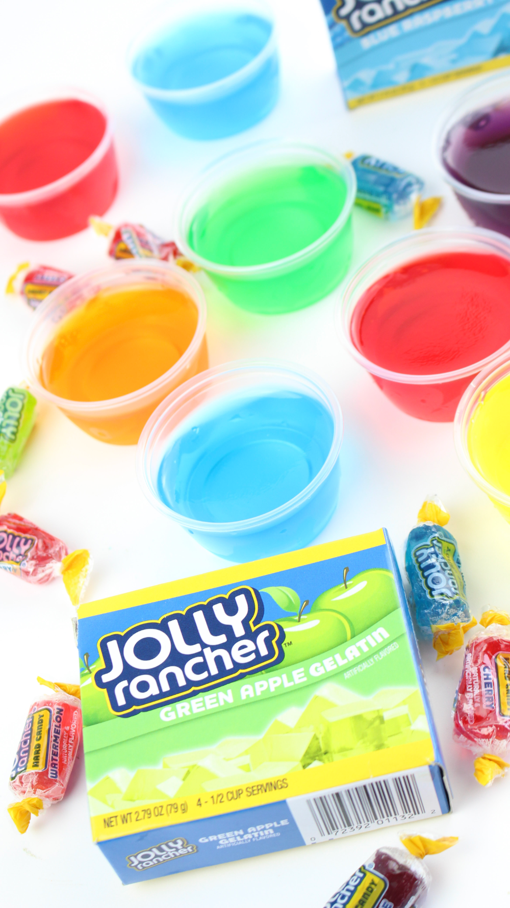 Jolly Rancher Jello Shots #jelloshots