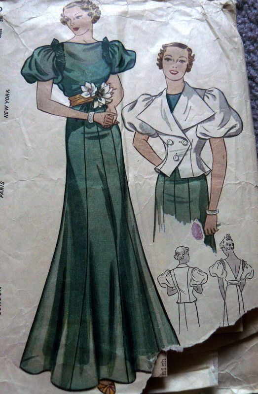 Simplicity 2093 | 1930s Evening Dres and Jacket