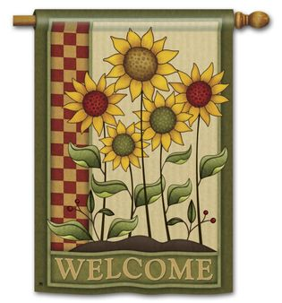 Simply Sunflowers House Flag 28 X 40 2 Sided Message Sunflower House Summer Garden Flags House Flags