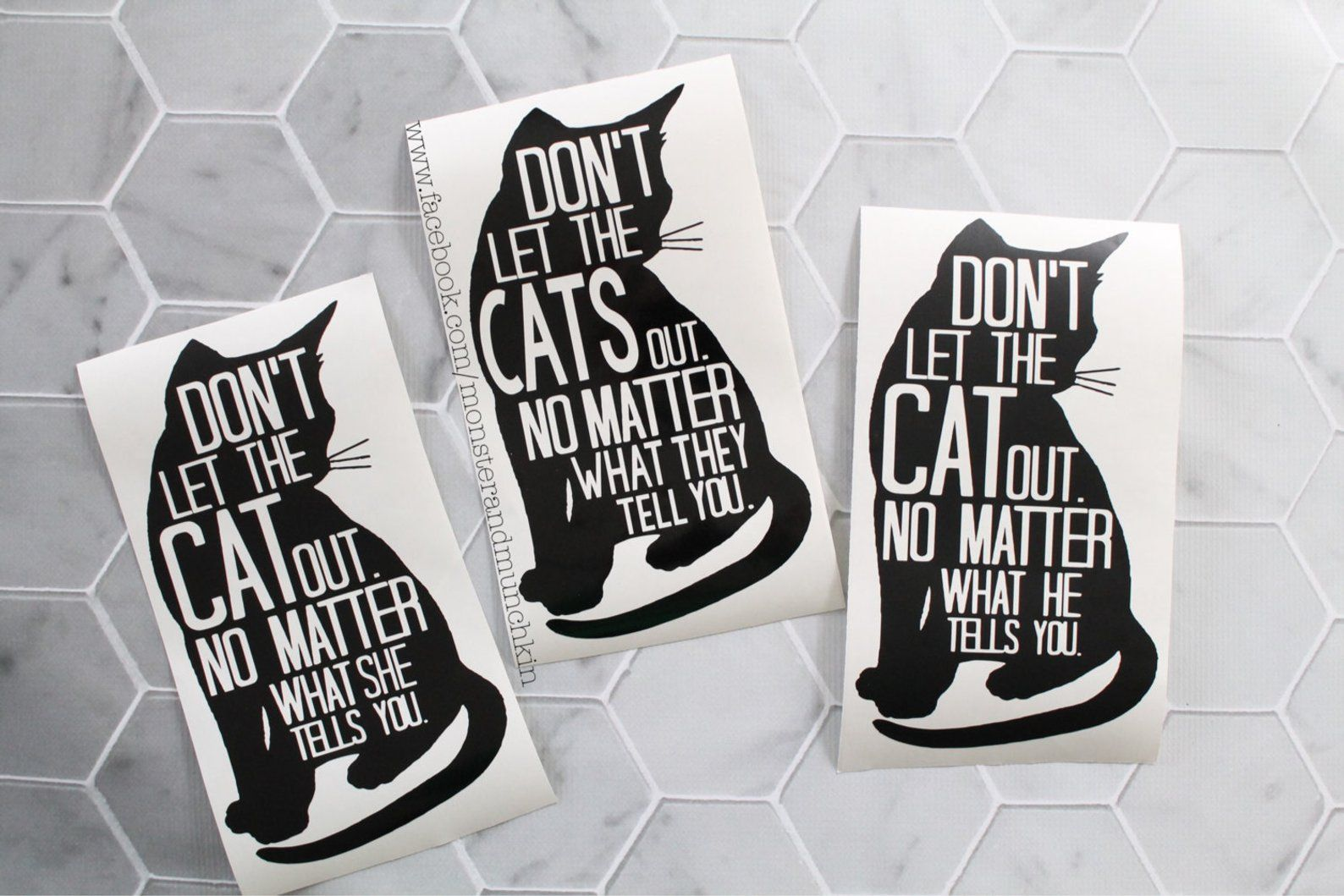 Don T Let The Cat Out Vinyl Cat Decal With Images Cat Decal