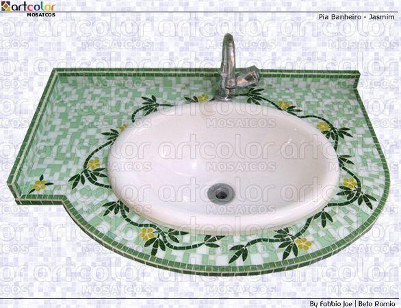 Pia em mosaico by Artcolor mosaicos - Beto Romio & Fabbio Joe, via Flickr