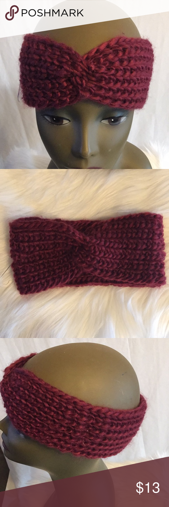 🔴BUY ONE GET ONEFREE Burgundy Headband War Warmer Make the most of your look with this burgundy soft to the touch knit Headband Ear Warmer 77% Acrylic 20% polyester 2% rubber 1% Spandex #poshmark #headband #earwarmer #passionofessense Passion of Essense Accessories Hats