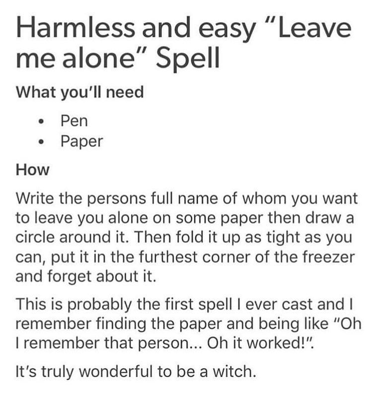"@wiccabby on Instagram: ""i have to say i've probably used this spell more than i should've"