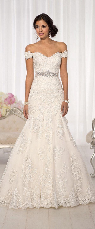 What is a mermaid wedding dress  Elegant Tulle Offtheshoulder Neckline Natural Waistline Mermaid