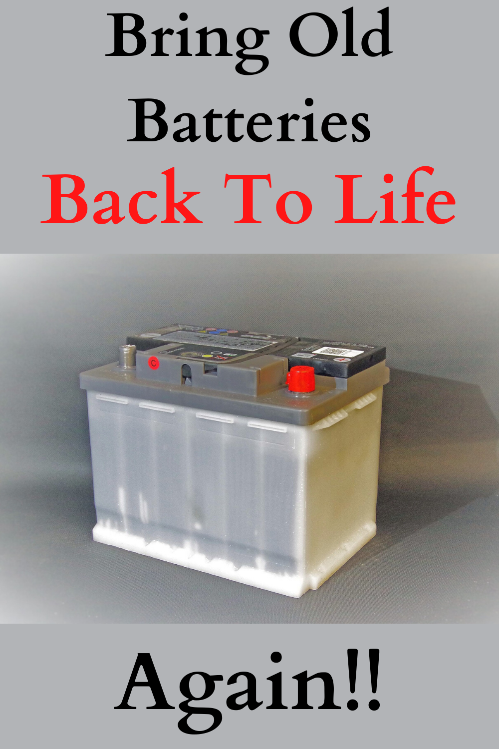 Bringing Dead Batteries Back To Life Is Simple Batteries Diy Dead Car Battery Batteries