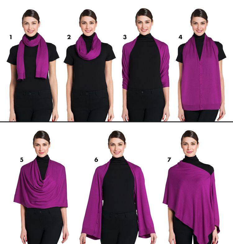 Multi-way scarf from Jacob Canada. Wear it 7 different ...
